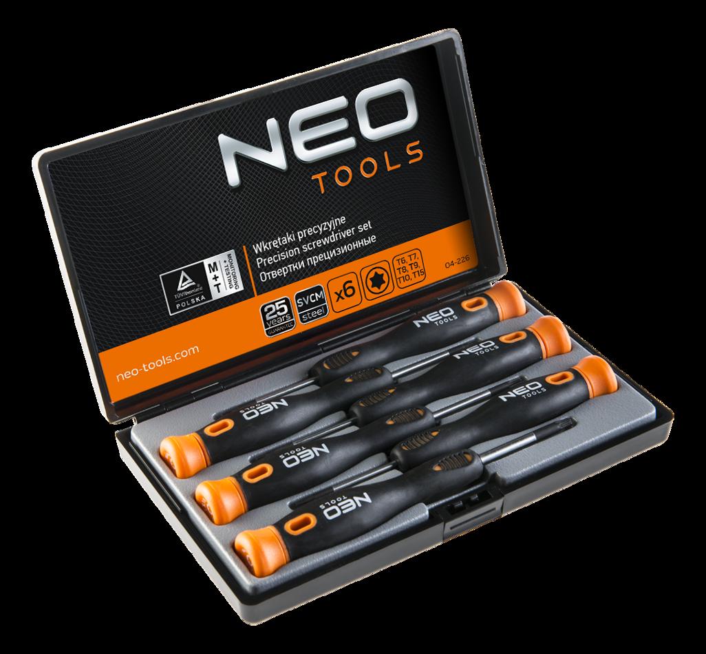 46f475046af571 ... Zestaw wkrętaków precyzyjnych Torx 6szt, Neo Tools 04-226 ...